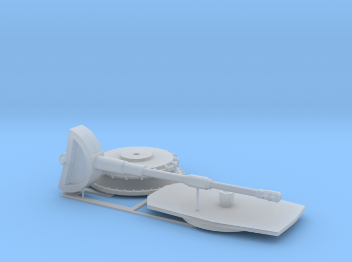 4.5 Stealth Turret Gun And Mount 1/72 3d printed