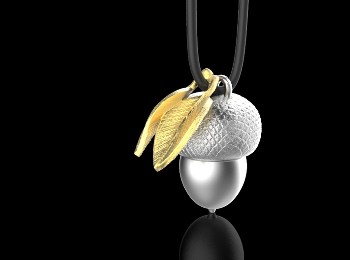leaves pendant 3d printed