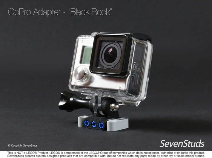"GoPro Mount for LEGO® Technic ""Black Rock"" 3d printed"