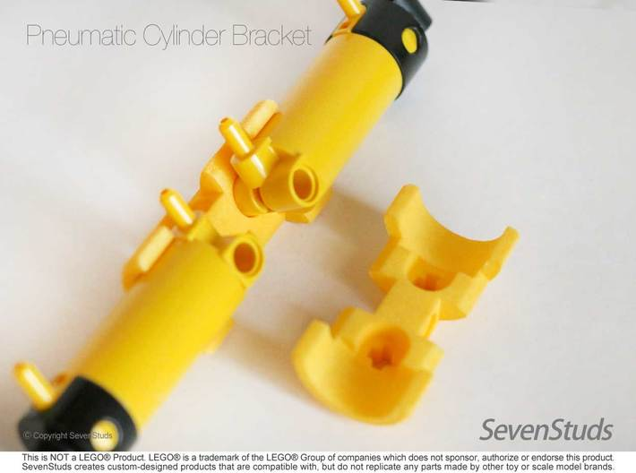 Pneumatic Cylinder Bracket 1/2 (Medium) 3d printed