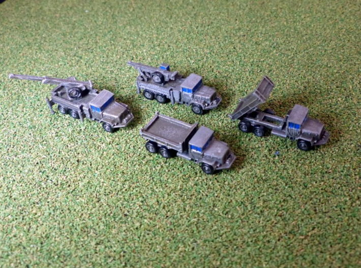 German 7to Truck KHD Jupiter Crane and Tipper 1/28 3d printed