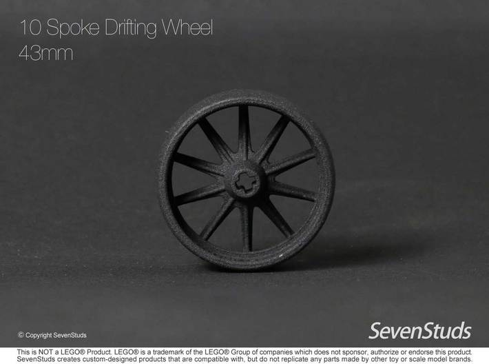 10 Spoke Drifting Wheel 43mm 3d printed