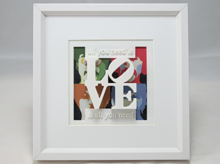 Love Is All You Need 3d printed Love with the Beatles