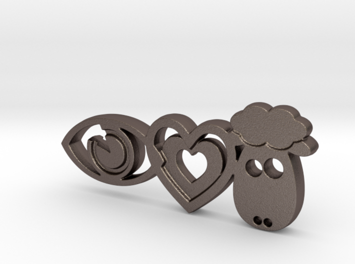 It's Only Love Keychain 3d printed