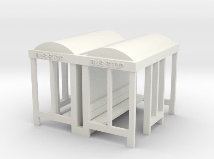 Bus Stop - HO 87:1 Scale Qty (2) 3d printed