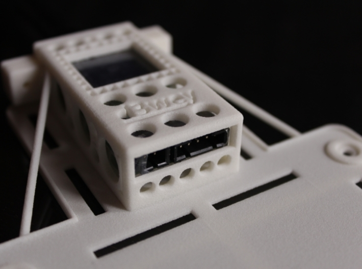 DJI Phantom Custom FPV Undertray -Fatshark (d3wey) 3d printed The structure is thick and tough despite being very light (22 grams)