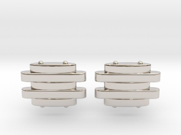 Strap Cufflinks 3d printed