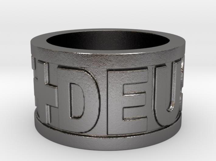 Deus Vult Plain Ring Size 10 3d printed
