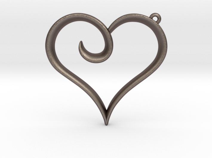 The Heart Pendant 3d printed