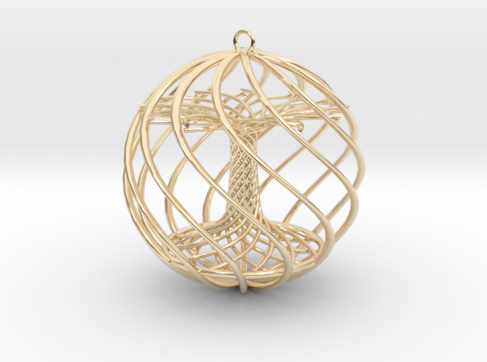 Tree Xmas Ball 3d printed