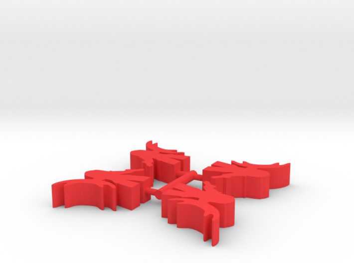 Game Piece, Empire Warrior Soldiers, 4-set 3d printed