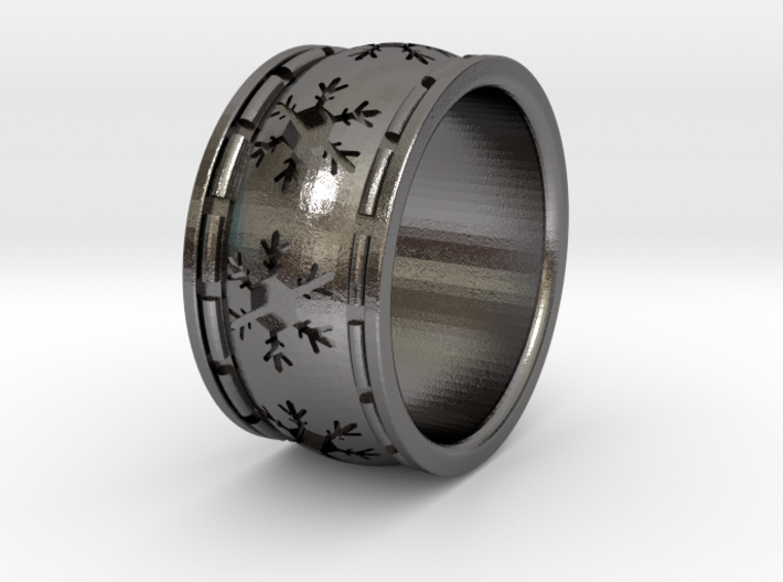 Snowflake Ring Size US 5 (other sizes upon request 3d printed