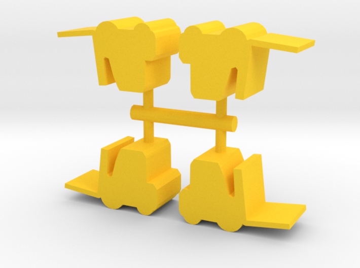 Game Piece, Forklift 4-set 3d printed