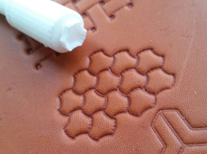 Set of 10 leatherstamps with tool/holder 3d printed Craftool 502 inspired leather stamp