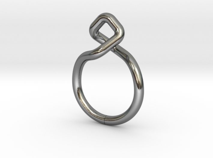 Dancing D.01, Ring US size 3, d=14mm  3d printed