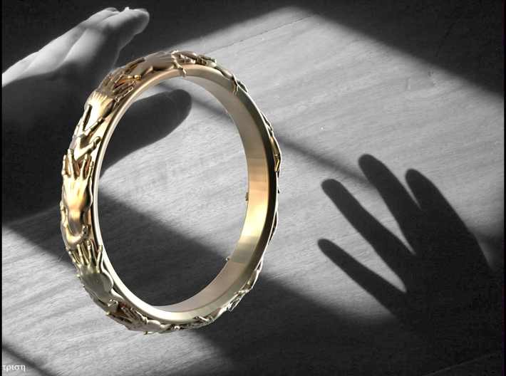 Ring of hands 3d printed