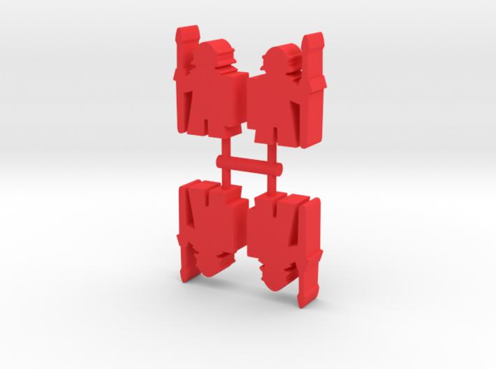 Game Piece, Roman Soldier, 4-set 3d printed