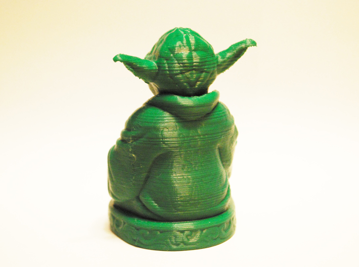 Yoda Buddha with Lightsaber  3d printed