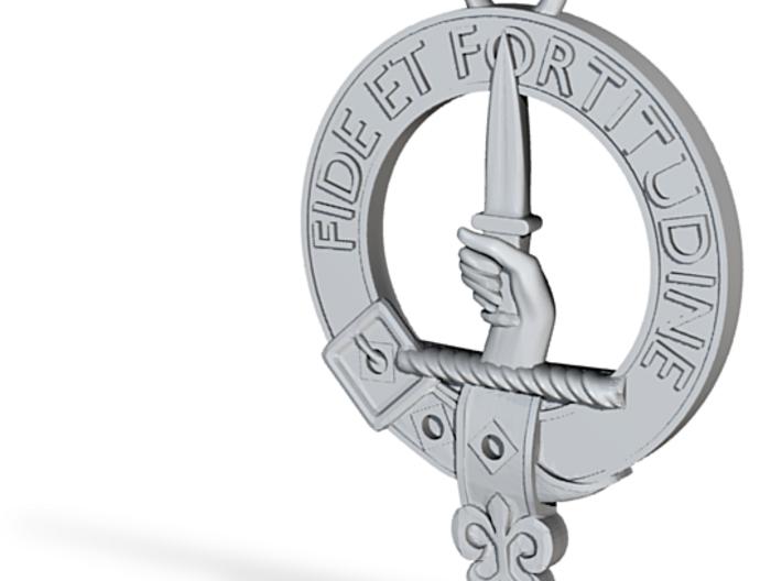 Shaw Clan Crest key fob 3d printed