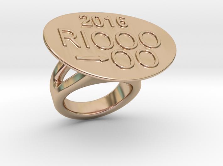 Rio 2016 Ring 27 - Italian Size 27 3d printed