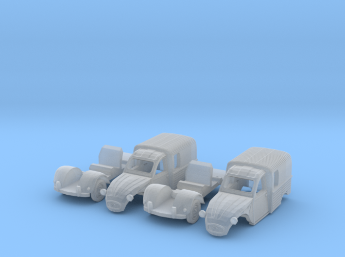SET 2x Citroën 250 (N 1:160) 3d printed