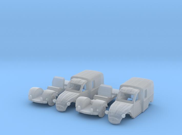 SET 2x Citroën 250 (N 1:160) 3d printed