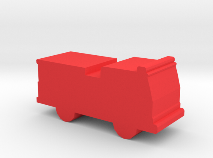 Game Piece, Fire Engine 3d printed