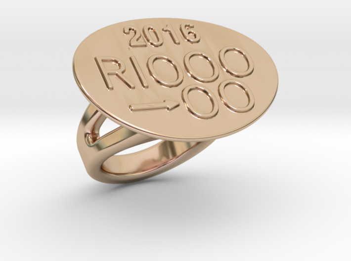 Rio 2016 Ring 33 - Italian Size 33 3d printed