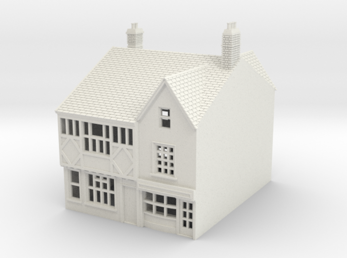 RNS-1 N Scale British town buildings 1:148 3d printed