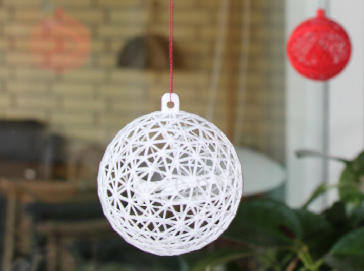 Christmas ball with dangling trumpet 3d printed