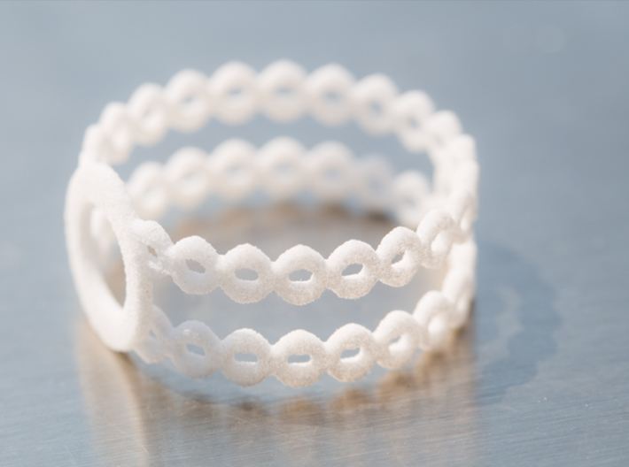 Ring of rings 3d printed Ring of rings - White Strong & Flexible - Photo