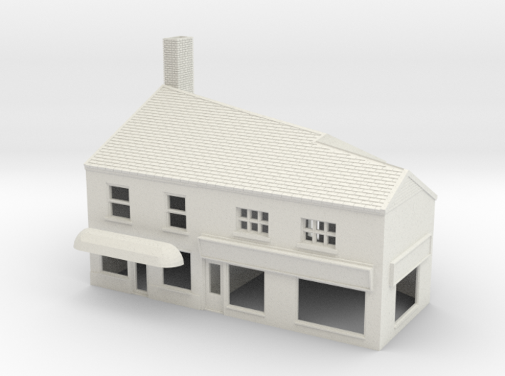 HHS-10 N Scale Honiton High street building 1:148 3d printed