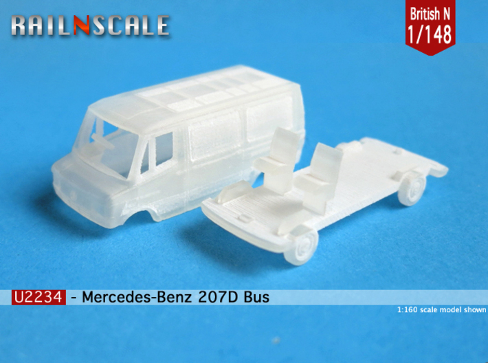 Mercedes-Benz 207D Bus (British N 1:148) 3d printed