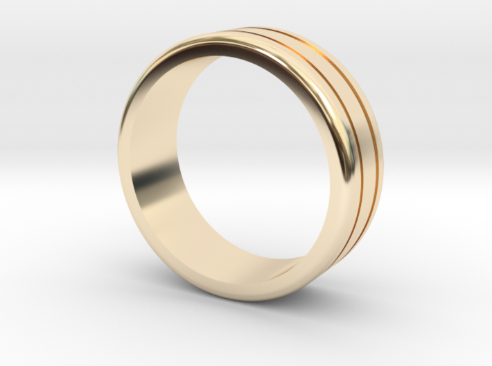 Classic wedding ring 3d printed