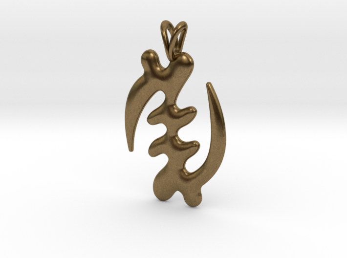 GYE NYAME Symbol Jewelry Pendant 3d printed