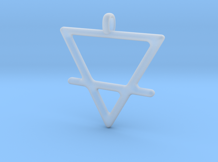 EARTH Alchemy Jewelry Symbol Pendant 3d printed