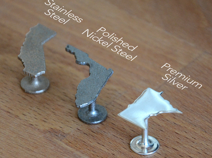Florida State Cufflinks 3d printed