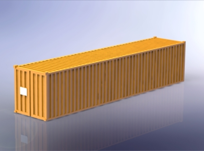 Container 40ft Standard 1/350 3d printed