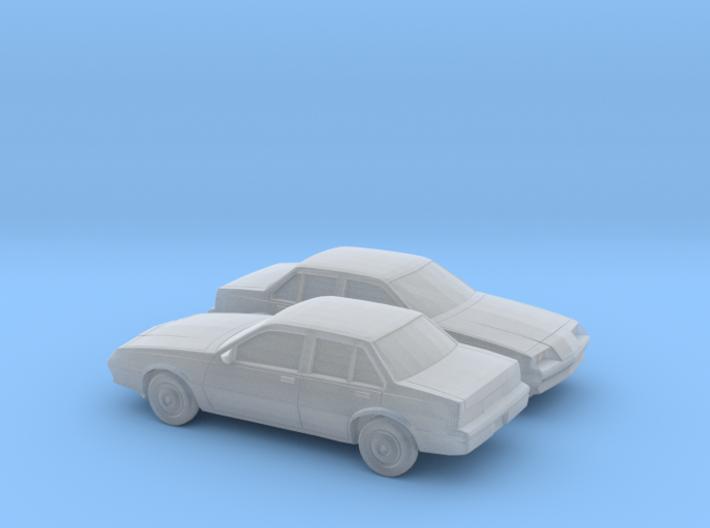 1/160 2X 1981-83 Buick Skyhawk Sedan 3d printed