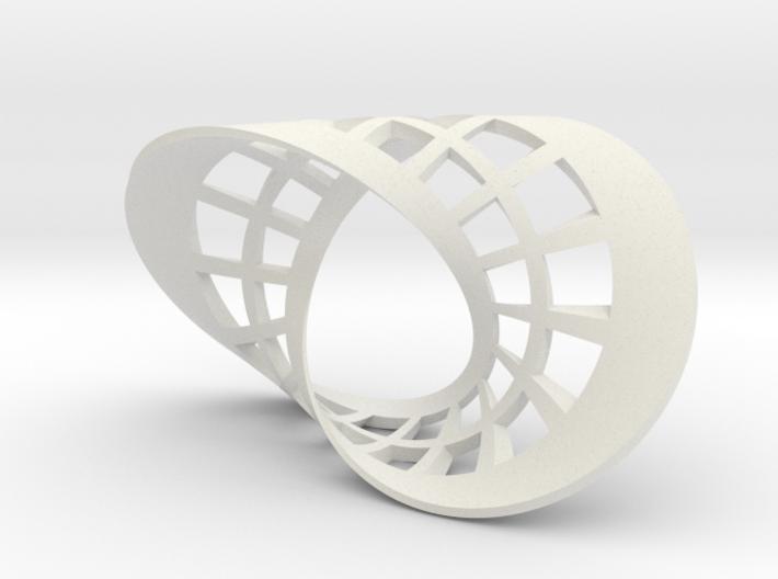 Seifert surface for (2,2) torus link with fibers 3d printed