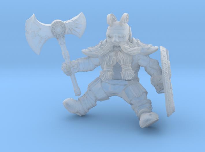 Mounted Dwarf Warrior 35mm (Goat & Bear Version) 3d printed