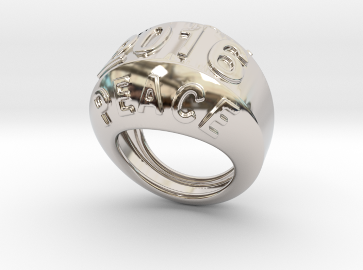 2016 Ring Of Peace 21 - Italian Size 21 3d printed