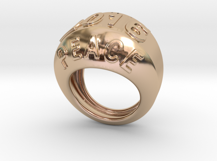 2016 Ring Of Peace 30 - Italian Size 30 3d printed