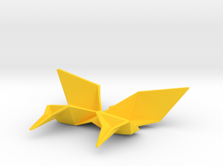 Origami Swallowtail Butterfly Charm 3d printed