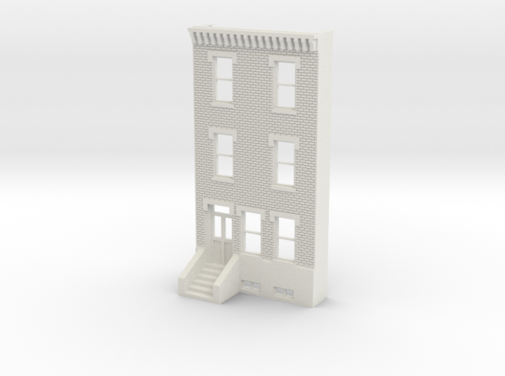 HO SCALE ROW HOME FRONT BRICK 3S 3d printed