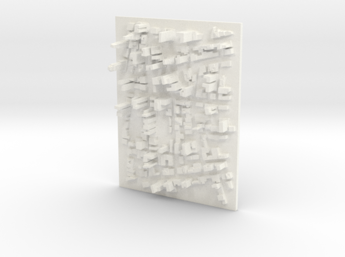 Large Desktop Cityscape 3d printed