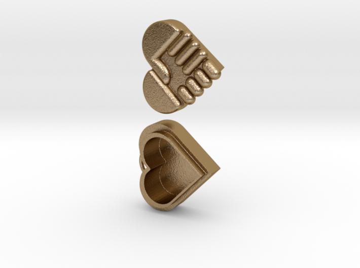 Hand Heart Pendant 3d printed