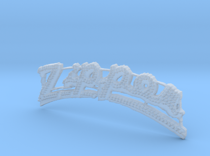 Chance Zipper Carnival Ride Sign 1/87th HO Scale 3d printed