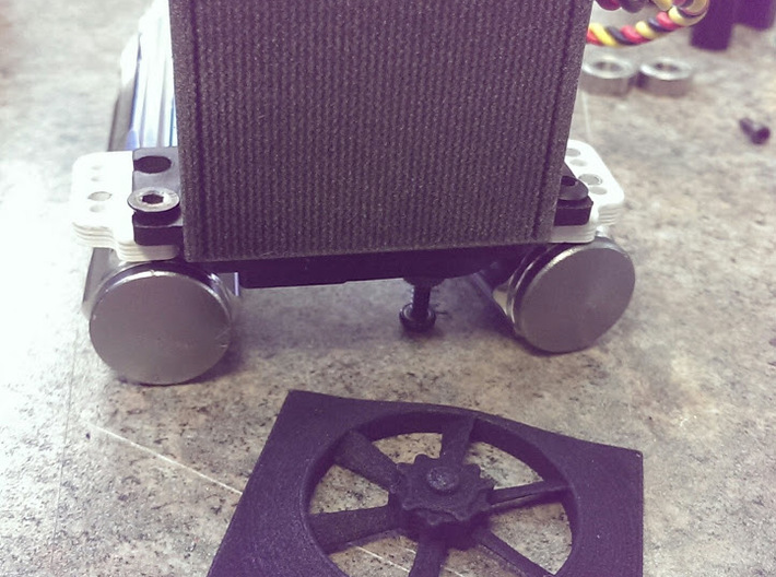 Fan And Shroud for Servo cover Radiator 3d printed