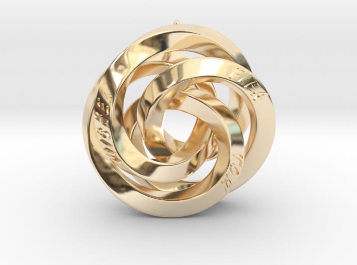 Infinite Harmony Pendant 3d printed